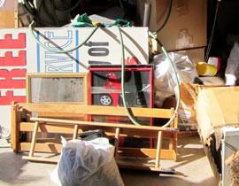 az junk bulk trash before pickup
