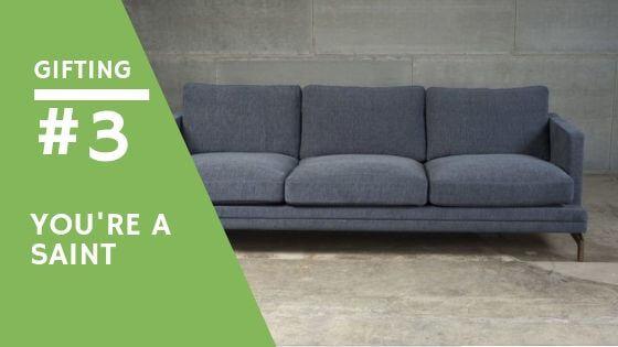 giving away a sofa