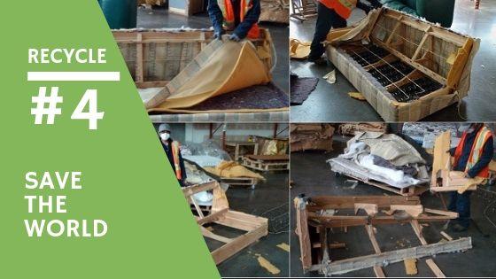 recycling a sofa
