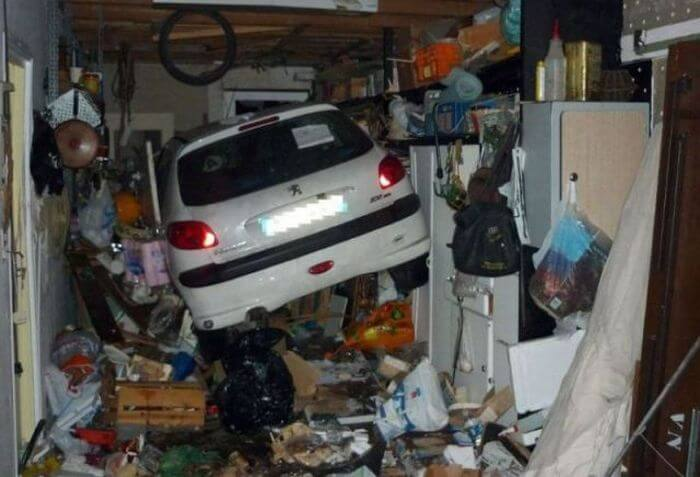parking in a full garage