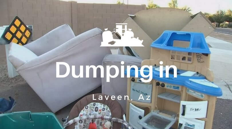 dumping trash in laveen
