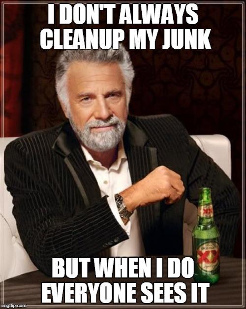 cleanup junk meme
