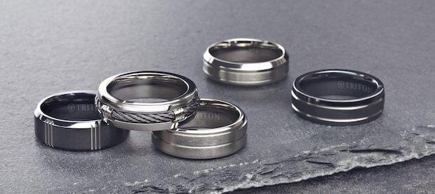 titanium rings stacked