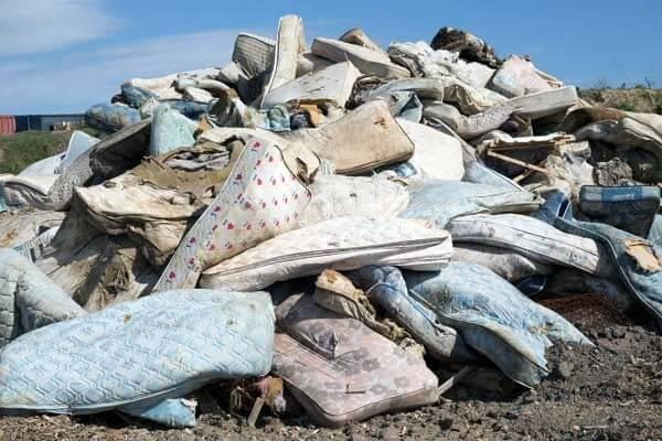 pile of old mattress