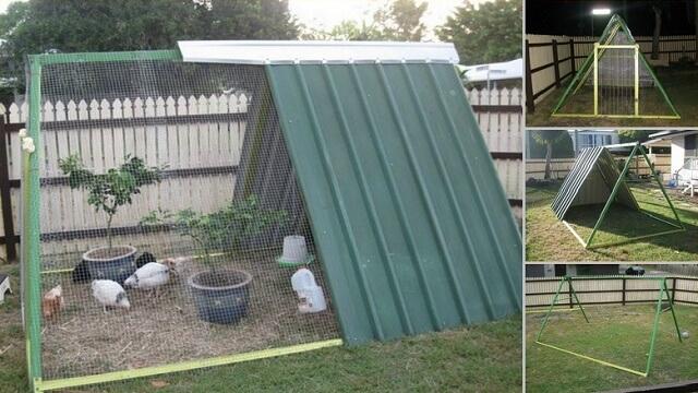 transform an old backyard playset
