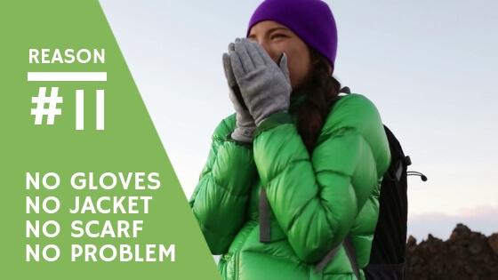 no gloves