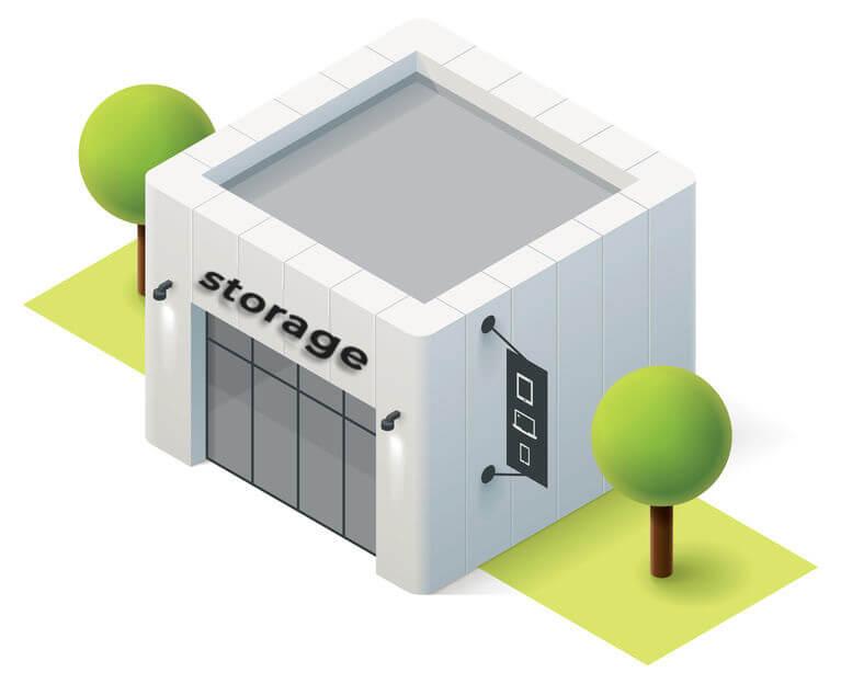 cleanout storage unit