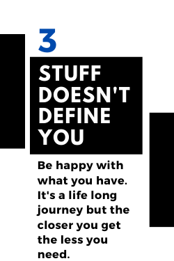 be happy with less stuff