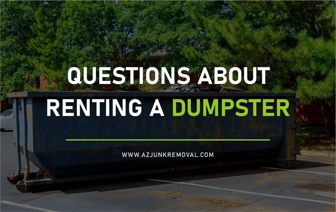 Common Questions About Renting a Dumpster in Phoenix