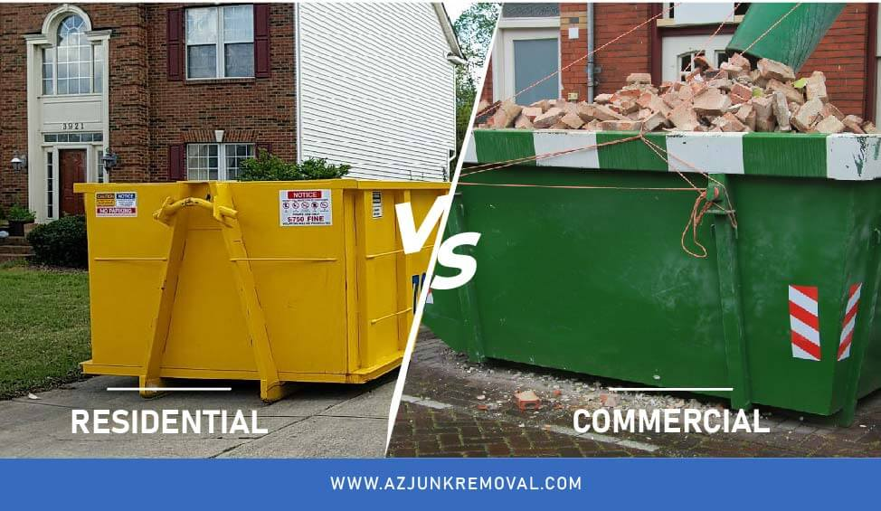 Residential Vs Commercial Dumpsters prices