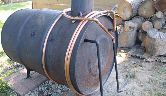 heating coil on drum