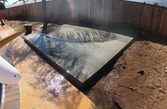 setting foundation for hot tub