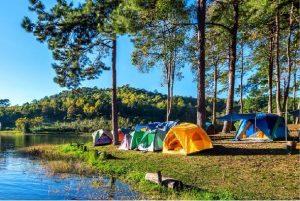camping at river site
